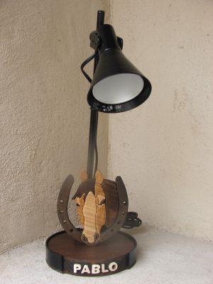 Lampe de bureau cheval pour chambre d'enfant