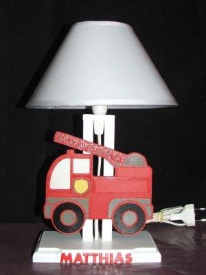 Lampe de chevet camion de pompiers