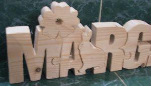Puzzle prénom bois
